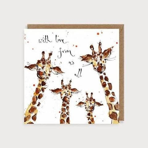 With Love From Us All - Giraffes